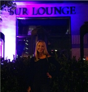 Lesley Rousso in front of SUR. Lesley lives in Miami, FL and is a Bravo fan and TBB correspondent.