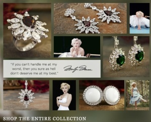 My fave is the Brentwood collection. Photo from MarilynMonroeJewelry.com