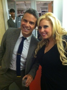 Kassner with Bravo's Andy Cohen.