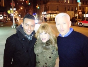 John Raphael with Kathy and Anderson Cooper.