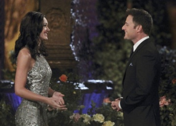 Chris welcomes Des to this season's Bachelorette pad. Photo: abc.com