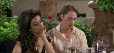 TIna and Tarz are less than impressed with Dad's new love interest. Photo credit: Bravotv.com