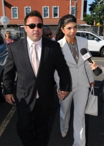 The Giudices enter Federal Court in Newark, NJ. Photo Credit: The NY Daily News