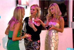 Lisa, Lea, and Joanna escape from the other women. Credit: Bravotv.com