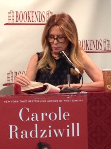 RHONY in NJ, Carole Radziwill reads from her new novel.