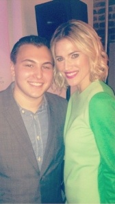 Housewife Guy and Kristen Taekman at the cast screening.