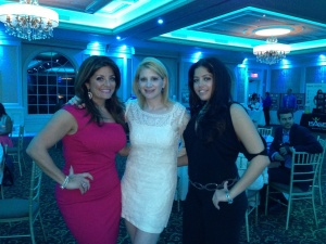 With Kathy and Victoria Wakile at a recent fashion show to support brain tumor research.