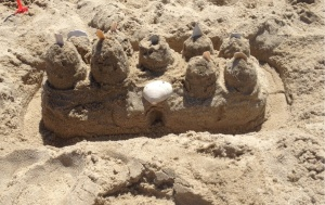 Our family sandcastle.