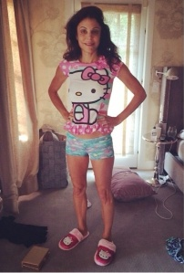 Bethenny Frankel dons Brynne's nightshirt and shorts on Instagram. Credit: Bethenny Frankel Instagram