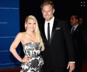 Jessica Simpson and new husband, former NFL star Eric Johnson Photo Credit: Dimitrios Kambouris/Getty Images