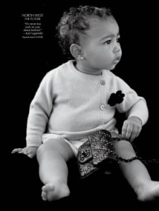 North West is already being groomed to have impeccable taste. Image courtesy of Time Magazine