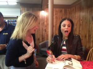 Bethenny recognized me at a book signing in August of 2013.