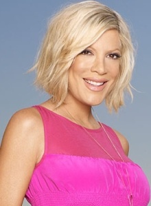 Is Tori Spelling faking it? Photo credit: people.com