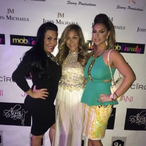Mobwives' Renee Graziano, Jennifer Dalton, and Jennifer Aydin at the Jennifer by Delice launch party.