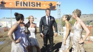 The girls finish a mud run. Photo: ABC via ETonline